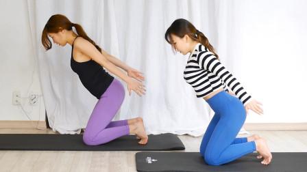 跪姿肱三头肌屈伸,专攻大臂后侧赘肉,没哑铃徒手也能练