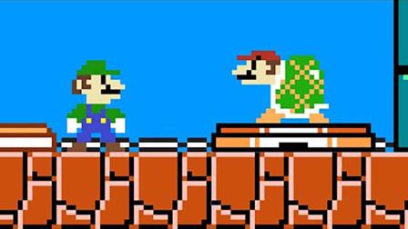 超级玛丽:马里奥搞笑动画,当马里奥变成乌龟了