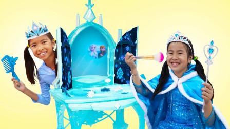 萌宝冰雪奇缘玩具故事全集:小萝莉变身冰雪女皇养成记!太搞笑了