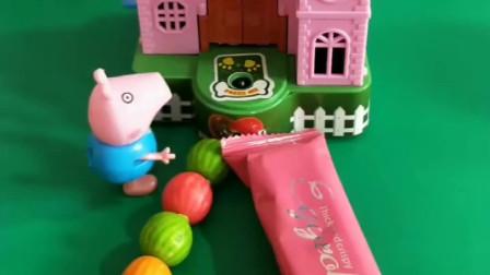 乔治给小狗喂饼干喂糖葫芦,怎么都不出来,小狗喜欢吃什么呢?
