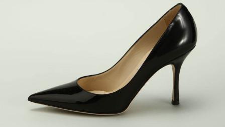 新款百搭职业气质尖头高跟鞋日常!