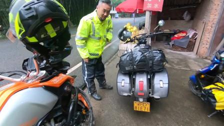 原来这样的摩托车也可以长途摩旅,比想象中还省油,不错的摩托车!