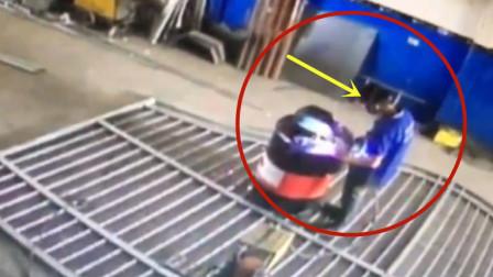 男子焊接油桶出意外,没给一丝反应的机会!悲剧了