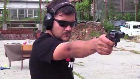 枪械百科:柯尔特小型左轮手枪试射,装弹速度慢是个大缺陷