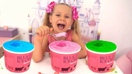 超好吃!萌宝小萝莉怎么吃到超多冰淇淋?可是为何突然不见了?儿童亲子益智趣味游戏玩具故事