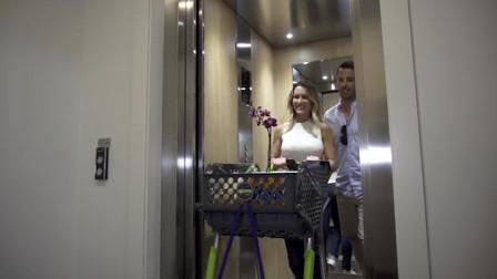 澳大利亚设计师,设计的一款折叠购物车,能够折叠放进后备箱中