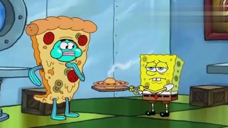 海绵宝宝:海绵宝宝烤披萨,一脸不情愿,是被逼迫的吗?