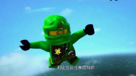 乐高幻影忍者:九个人只有八只降落伞,关键时刻,劳埃德召唤神龙