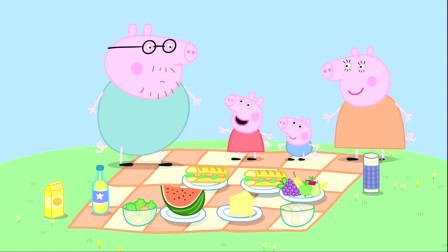 粉红猪小妹:猪爸爸这个大吃货,怎么可能忘了,猪妈妈自制的草莓蛋糕