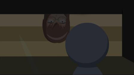 恐怖动画:女孩半夜被动静吵醒,好奇伸头往下看,那一幕终身难忘