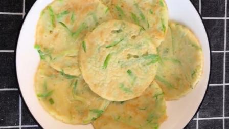 西葫芦蔬菜小饼的做法,简单快速,营养均衡,早餐做给孩子吃