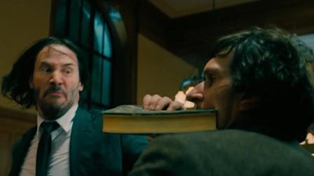 一部燃爆的动作大片,顶级杀手用书本做武器,一人对抗全城的杀手