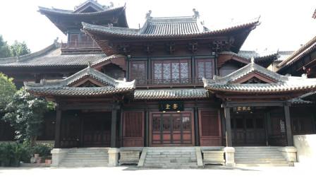 大觉禅寺实木结构古建刷涂木蜡油效果