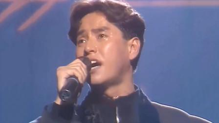 87年谭咏麟宣布退出歌坛,最后演唱《无言感激》,直接唱到哽咽