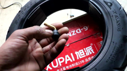 电动车维修之真空胎注意要点:轮胎漏气补胎换胎,检查气嘴尤为重要