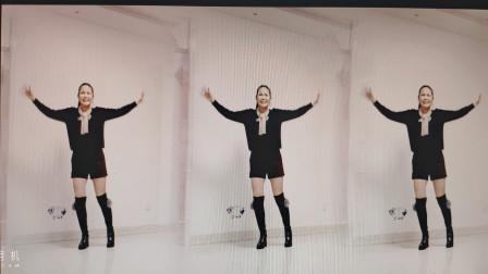 好心情蓝蓝广场舞原创【171】优美大气舞姿32步【心相印手牵手正背面】附教学