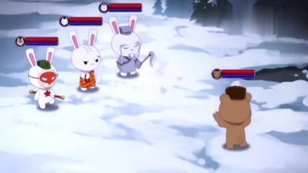 那年那兔那些事:毛熊和兔子的打斗,毛熊被揍的很惨