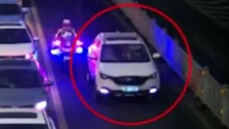 26次违法女司机被交警狂追 她哭嚎着说出一句话令人大跌眼镜