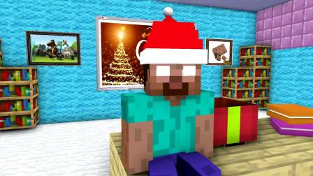 我的世界动画-怪物学院-拆圣诞礼物-SpekMan