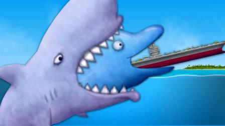 美味星球:吃货大白鲨冰岛吞企鹅,被大白熊兄弟盯上了