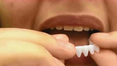 原来明星的大白牙是这样弄的,黄牙瞬间变白又整齐