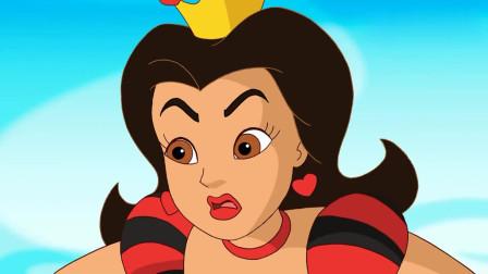 爱探险的朵拉:皇后想砍掉布茨的靴子,朵拉说不可以!