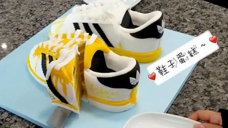 商场里贵贵的阿迪达斯鞋子,在牛人的改造下变成了创意翻糖蛋糕