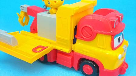 超级飞侠多莉三合一工程车 泥罐车弹射水泥球