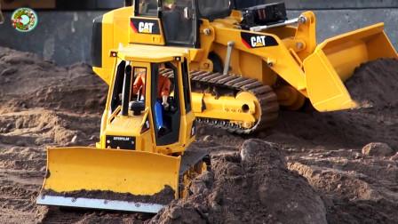 重型卡车拖拉机和工程车玩具,挖掘机装载车和自卸车玩具