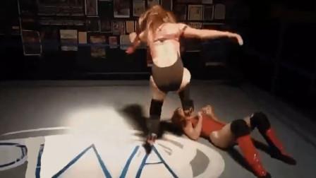 说好是演戏,你却来真的?欧美女子摔角现场突然开始真打