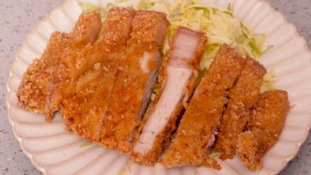"""教你自己在家做""""炸猪排"""",方法简单,外酥里嫩,比炸鸡排更好吃"""