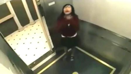 灵异事件:女孩坐电梯回家,突然出现诡异一幕!要不监控拍下谁会信