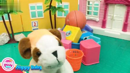 机灵宠物车:小狗狗需要帮助,机灵宠物车队帮助小狗狗搬家。