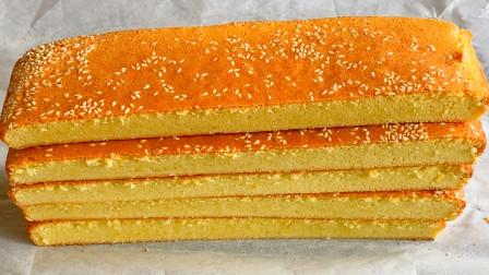 过年招待客人,教你做全蛋小蛋糕,细腻香甜口感好,比饼干好吃