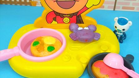 巴克队长做好吃的 面包超人厨房和变色食物