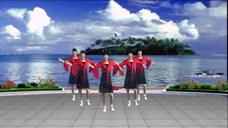 三友矿山广场舞【一天七次赞美】原创视频;简单32步附正反分解