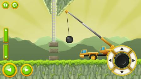 工程车游戏 直升飞机帮助皮卡车通过跷跷板障碍