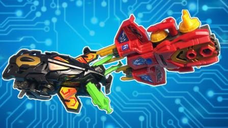 进阶版炫斗战轮玩具在超大的竞技场激烈碰撞