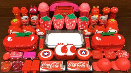 草莓和可口可乐那来做泥,混入各种无硼砂材料来玩史莱姆,过程好玩减压