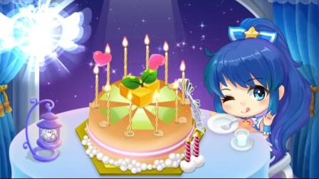巴啦啦小公主做蛋糕 亲子装扮游戏 制作简约抹茶蛋糕