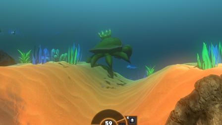 海底大猎杀:太强了 60级螃蟹王打赢了巨齿鲨