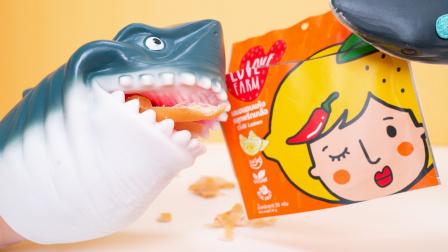 柠檬片很普通 辣味的就很惊艳了 鲨鱼爸爸试吃奇葩零食