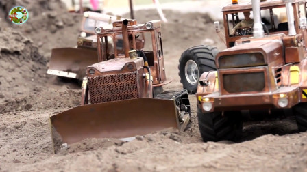 仿真重型车辆玩具,儿童工程车玩具,推土机和自卸卡车玩具