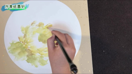 丹青纸墨轩:水墨画大写意,国画牡丹画法,黄花豆蔻华,富贵瓣中发