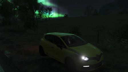 极限竞速地平线4 夜晚北极光 雷诺小车