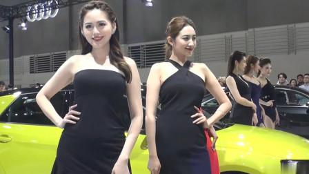 2020世界新车大展漂亮美女车模秀精彩片段四