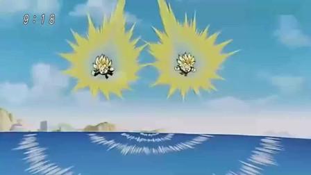 你可知道,超级赛亚人的飞行速度有多快?悟天和特兰克斯海上飞行