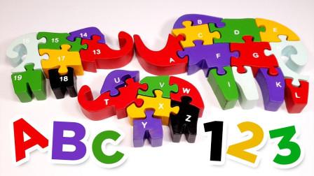 积木字母拼接动物图案