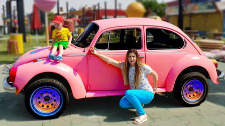 好有趣!萌宝小正太一家人去哪玩耍?为何都是汽车?趣味玩具故事