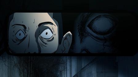 动画:诡异!男人深夜开车,总在行车仪看见黑影,反应过来却晚了